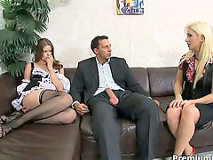 Flirting, Hot maid, Threeway, Joins, Threeways, Flirts
