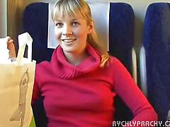 Public, Czech, Teen, Train, Teens, Sex
