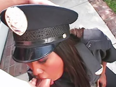 Police, Police fuck, Ebony office, Boots interracial, White stocking, White hair