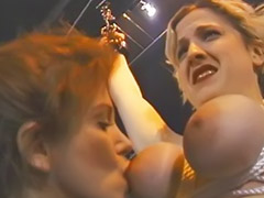 Bound lesbian, Lesbian bound, Nice boots, Redhead femdom, Redhead bound, Spanking and domination