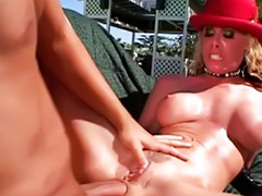 Smoking, Smoking blowjob, Cum in boots, Sex in pool, Sex in boots, Smoking hot blonde