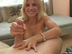 Wife jerking, Wife dicks, Smiling, Jerking wife, Dick jerking, Smile