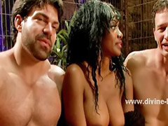 Dominatrix, White slaves, White slave, Two slaves, Threesome slave, Slave threesome