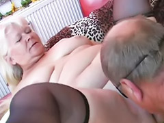 Mature wife, German mature, German sucks, Chubby wife, German stockings, Wife bed