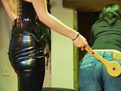 Punish, Mistress, Punished, Punishment, Lesbian slave, Punished lesbians