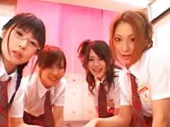 Extreme schoolgirls 4, Japanese group blowjob, Extreme schoolgirls, Extremely hot japanese schoolgirls, Group bukkake, Extrem teen