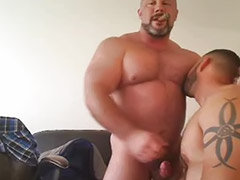 Gay mature, Mature handjob