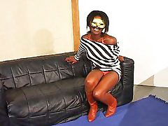Masked blowjob, Boots interracial, Interracial hole, Fucking all holes, Mystery, Ebony beauty