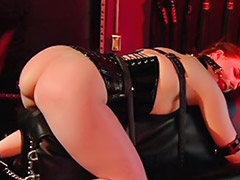 Slave strap-on, Ours, Our, Blonde slave pierced, Blonde slave, Threesome slave