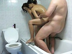 Pattaya, Threesome shower, Threesome in shower, Shower threesome