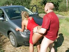 In front of, Sex in car, Car sex blonde, German blond amateur, German outdoor, In front