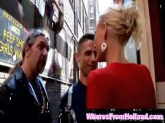 Custom, Customer, Blonde hooker, Blond hooker, Paying, Customers