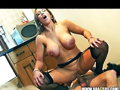 British, Plumber, Sex nanny, Stocking tits, British anal, Anal big tits stockings