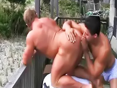Beach, Bodybuilder, Bodybuilder anal, Bodybuilders, Bodybuilder sex, Gay beach