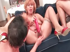 Huge cock, Mature gangbang, Young, Mature young, Huge shot, Party huge cock