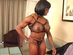 Ebony, Mature, Muscles, Muscle