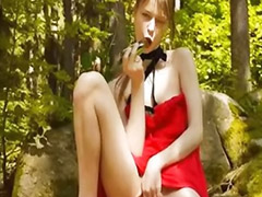 Forest, Forest girls, Solo public masturbation, Rest