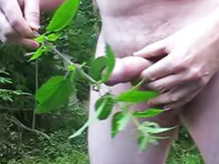 Nettle, Nettles, Amateur outdoor, Male outdoor, Outdoor fetish, Solo outdoor