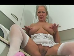 Massage pied, Mature masturbing