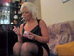 Dildo, Smoking, White, Gina