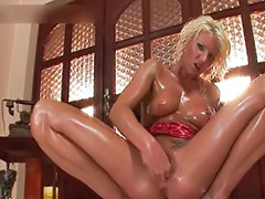 Fisting, Oil, Oiled, Oil masturbates, Fisting blonde, Girls fisting girls