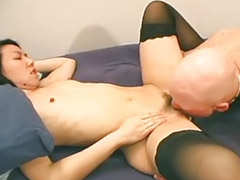 Bush, Cum eating, Betty, Hairy bush, Eating black, Stockings hairy