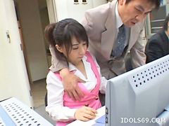 Office japanese, Japanese offic, Yuuka, Office cute, Oosawa yuuka, Japanese offices