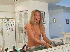 Naked in kitchen, In the naked, Naked kitchen
