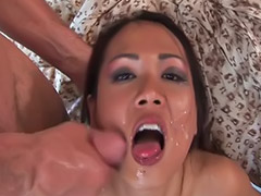 Cum on the hair, Black on asian, Nyomi, Asian on black, Zen sex, Zen