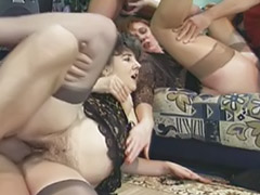 German anal, German mature, Mature anal masturbation, Two dicks, German stockings, Three anal