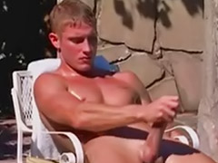 By the pool, Joe, Jacking off, Wanked off, Pool solo, Pool gay