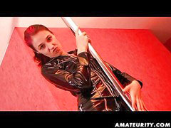 German latex, German sucks, German cumshots, German redhead, Vaginal cumshot, Fuck cumshot