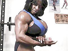 Ebony, Muscle, Muscles, Female muscle, Muscle female, Muscled