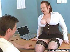 Tit punish, Watcher, Punish porn, Big-tits boss, Big tits punished, Big tits boss