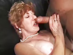 Gangbang, Granny, Grannies, Double vaginal, Granny gangbang, Huge dick