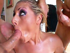 Hunt, Sperm swallow, Sperm swallowing, Threesome rough, Rough-threesome, Rough threesome