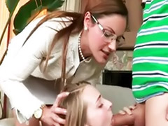 Strap on, Stepmom, Glasses, 3some, Girlfriend, Strap-on