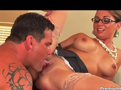 Boss, Secretary facial, Boss secretary, Glasses facial, Secretary blowjob, Horny secretary