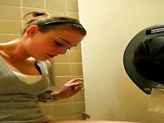 Toilet, Rubbing, Public masturbation