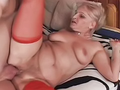 Granny, Grannies, Blonde granny, Granny blowjob, Close, Blond granny