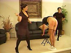 Two ladies, Strict lady, Lady by, Strict, Caning