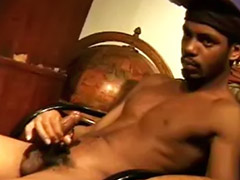 The table, The table masturbation, Cum on the hair, Shoot, Ebony shooting, Cum shoot