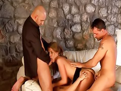 Daddy, Crazy, Private, Threesome girls, Daddy threesome, Gold