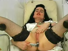 Speculum, Gyn, Speculum anal, Solo in stockings, Working girls, Stockings solo anal toying
