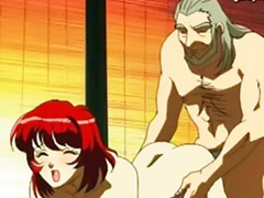 Suck old, Old cock, Old hentai, Hentai blowjob, Anime old, Redhead sucking