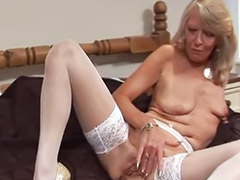 Granny, Grannies, Solo toy stockings, Granny masturbates, Suzie, Granny and girl