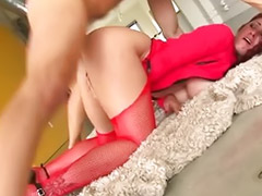 Tiffany, Tiffany mynx, High heel ass, Stocking withe, Busty stockings, Redhead with big tits