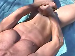 Beach, Fitness, Beach public, Gay beach, Fit, Beach masturbation
