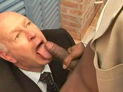 Grandpa and, Grandpa and grandpa, Knee, Suck huge black, Suck black dick, Sucking huge dick