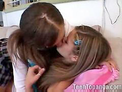 Lesbian, Lesbians, First time, Little, First, Teenager
